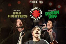 Ttributos Red Hot Chili Peppers, Foo Fighters e Green Day